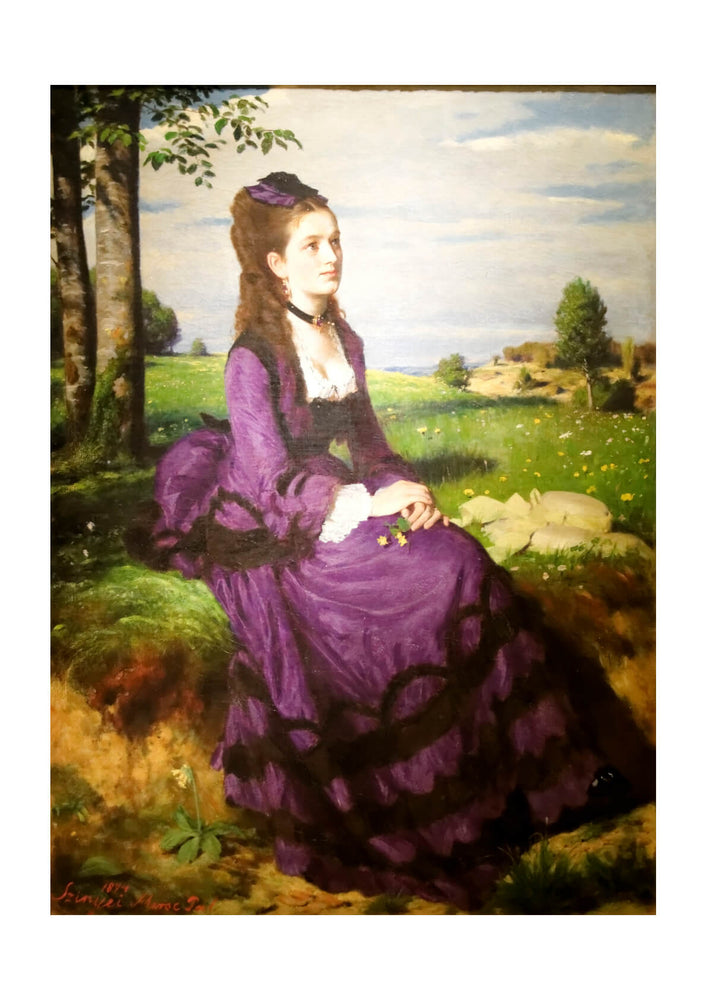 Pal Szinyei Merse - Women in a purple dress