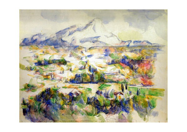 Paul Cézanne The Mont Sainte Victoire Seen from Lauves 1905