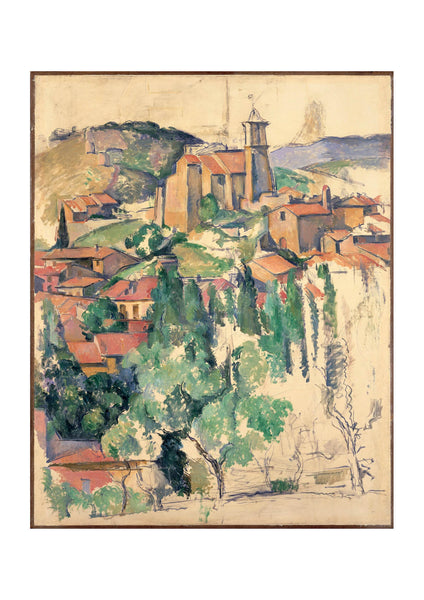 Paul Cezanne - A Small Town
