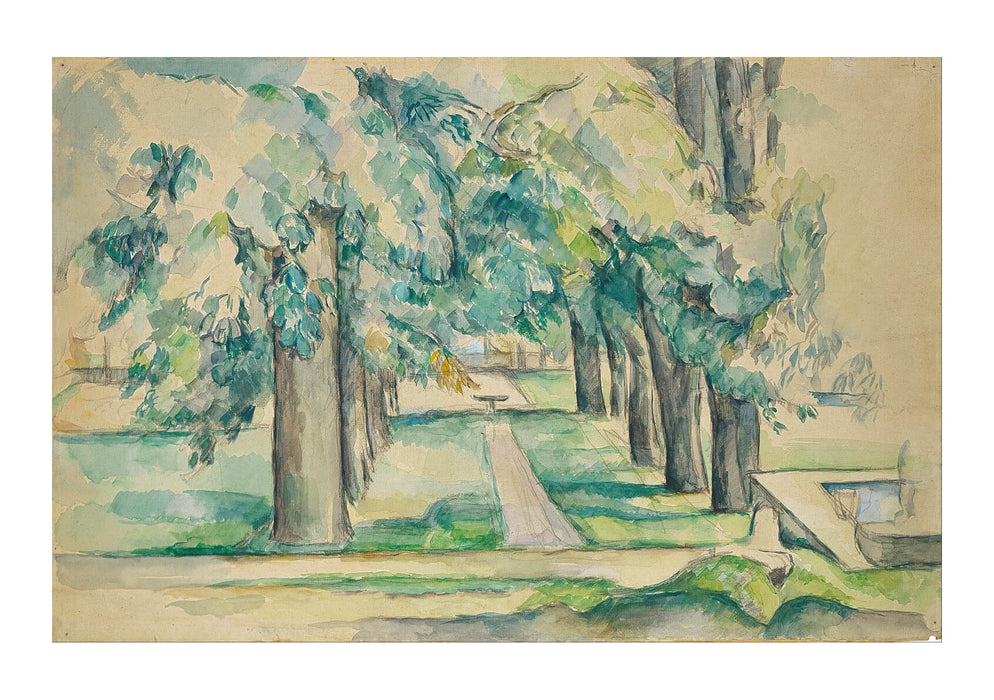 Paul Cezanne - Avenue of Chestnut Trees