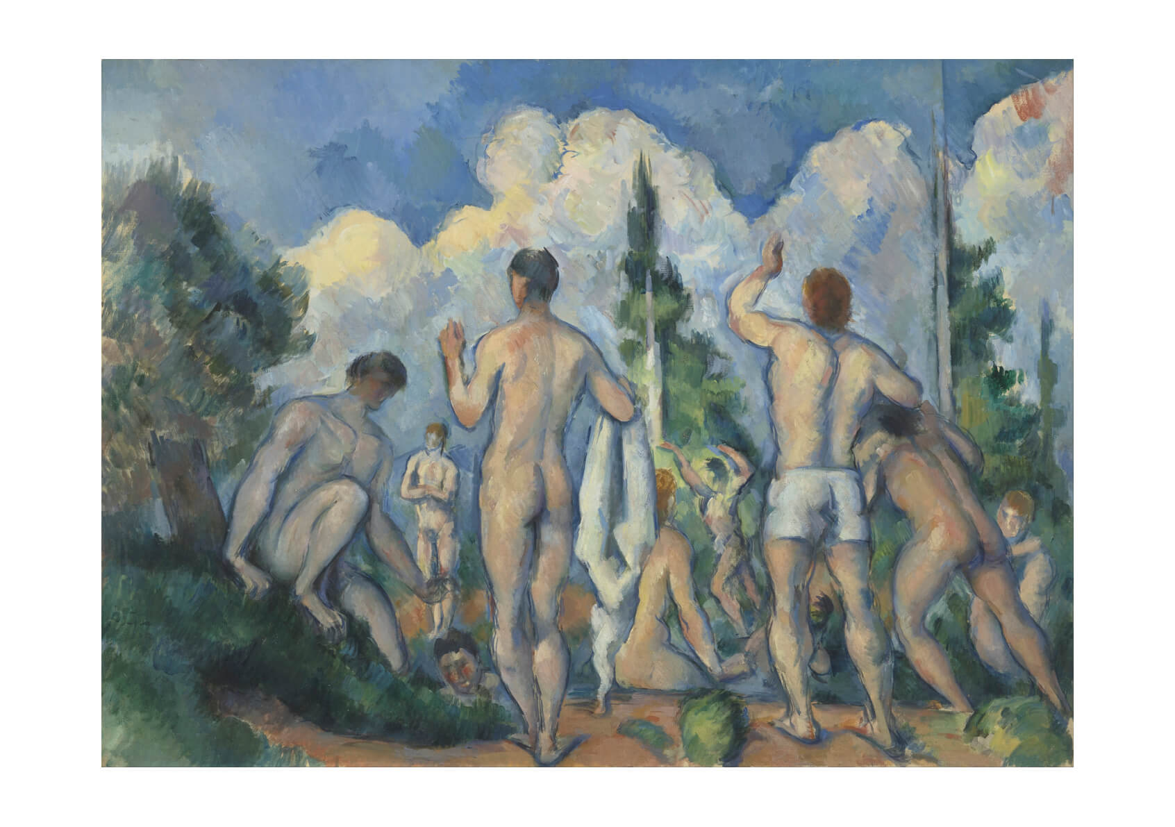Paul Cezanne - Bathers Together