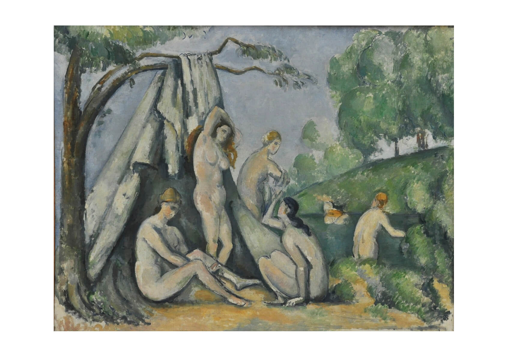 Paul Cezanne - Bathers in Front of a Tent