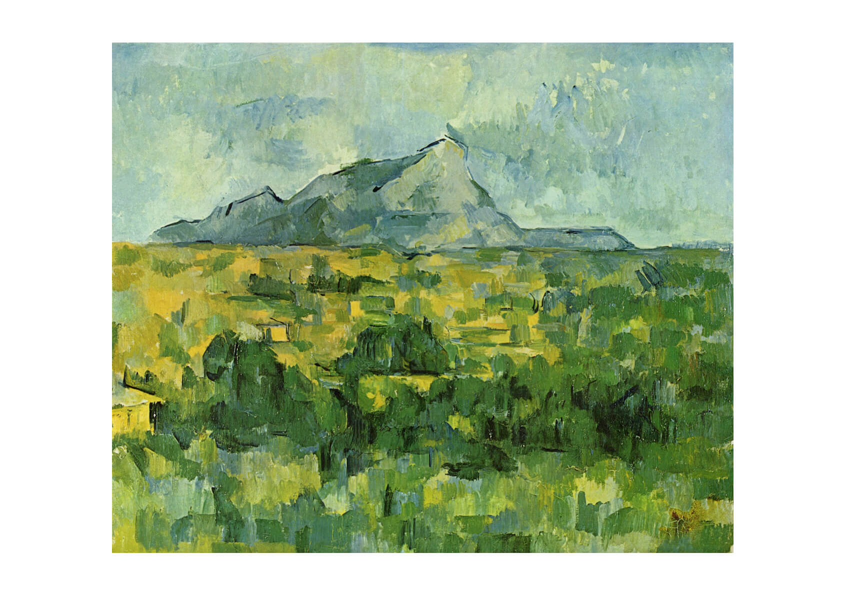 Paul Cezanne - Green and Yellow with Mountain