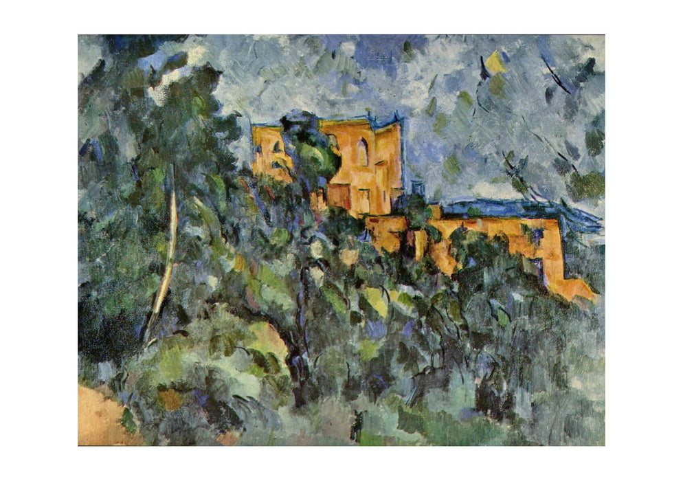 Paul Cezanne - Houses Behind Trees
