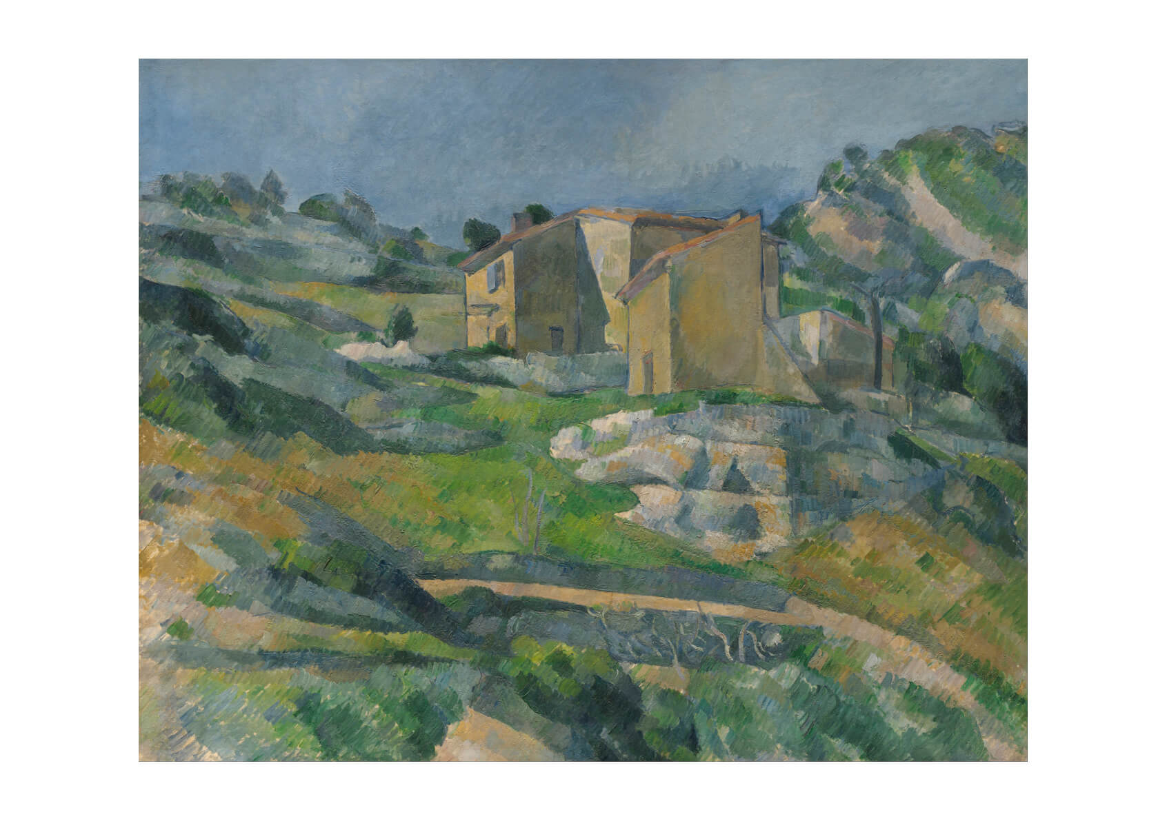 Paul Cezanne - Houses in Provence- The Riaux Valley near L'Estaque