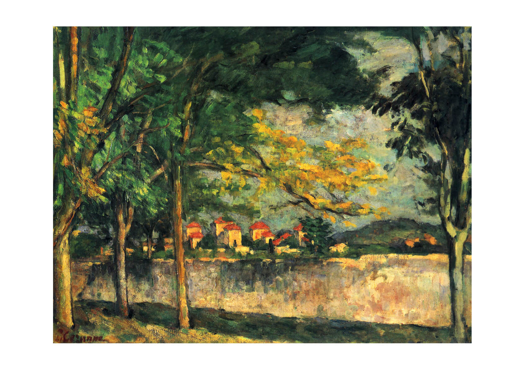 Paul Cezanne - Houses through the Trees