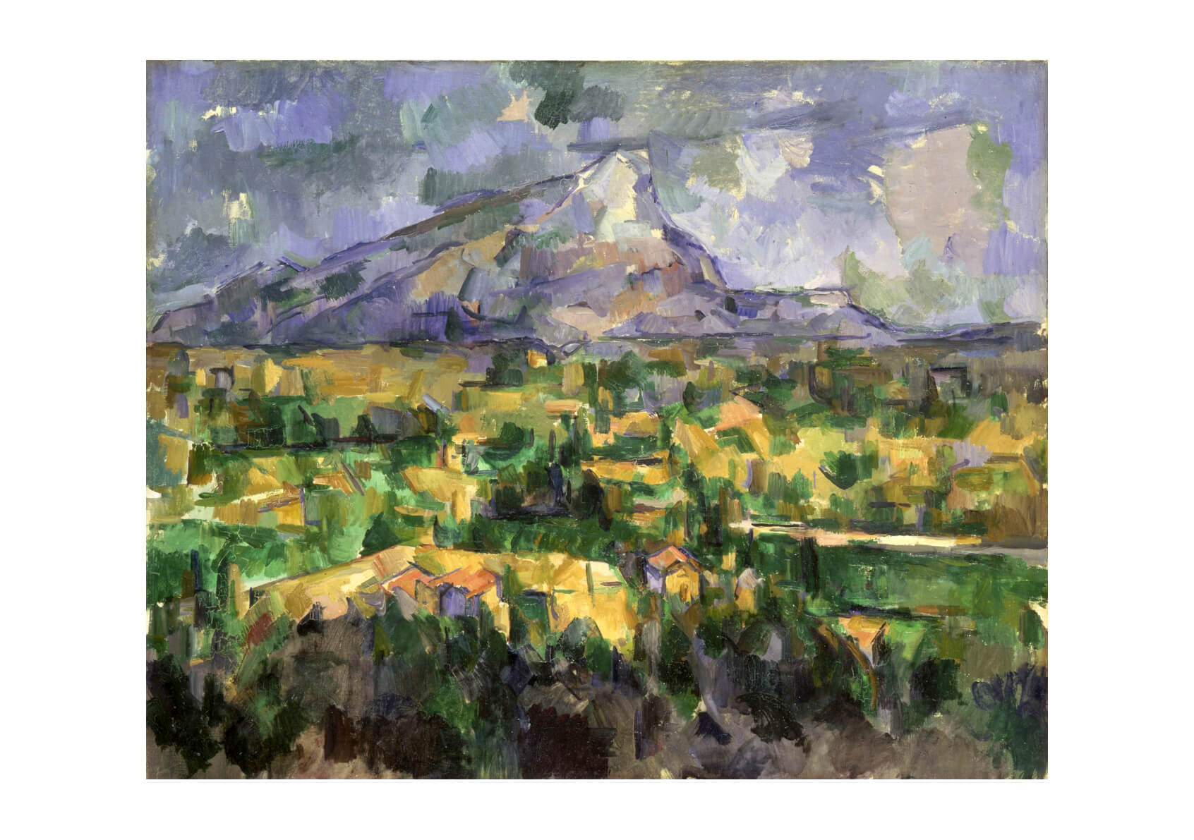 Paul Cezanne - Mont Sainte-Victoire Purple