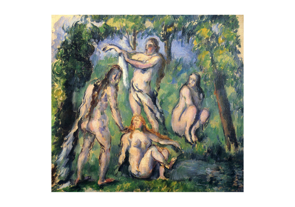 Paul Cezanne - Nudes beneath the Trees