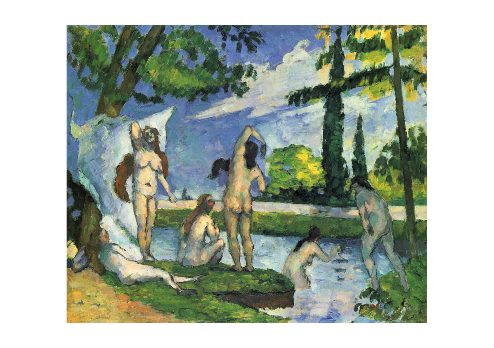 Paul Cezanne - Nudes in the river