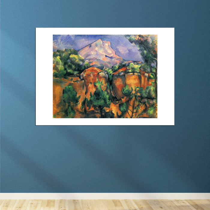 Paul Cezanne - Orange with Mountain