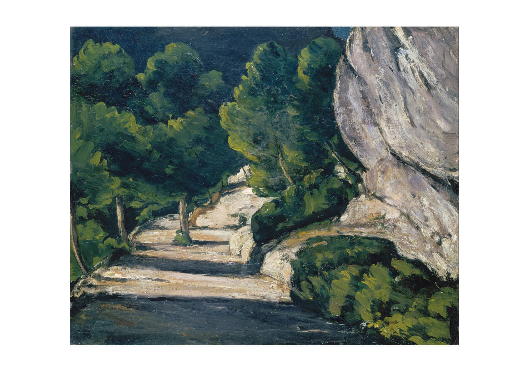 Paul Cezanne - Road with Trees in Rocky Mountains