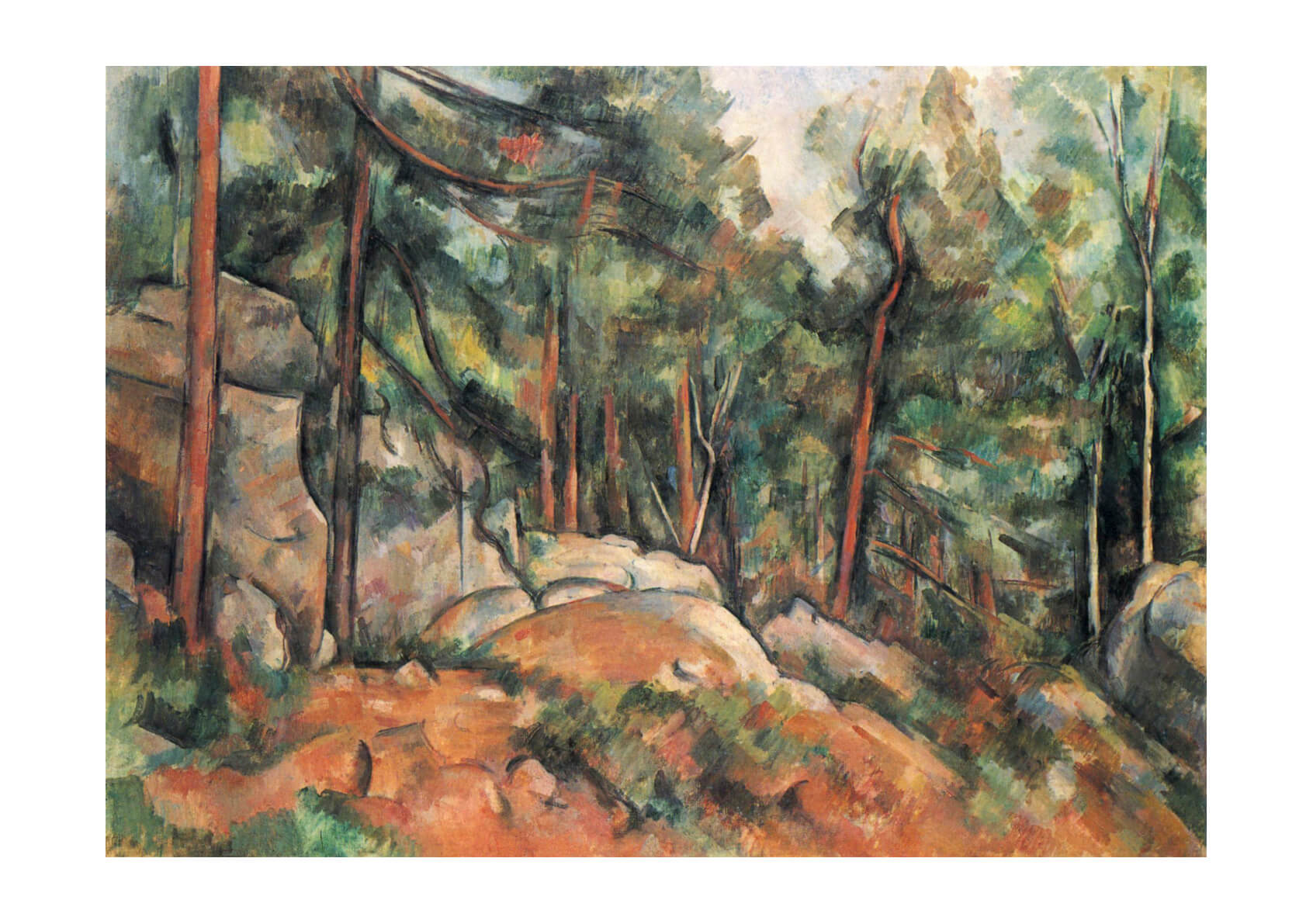 Paul Cezanne - Rocks and Trees