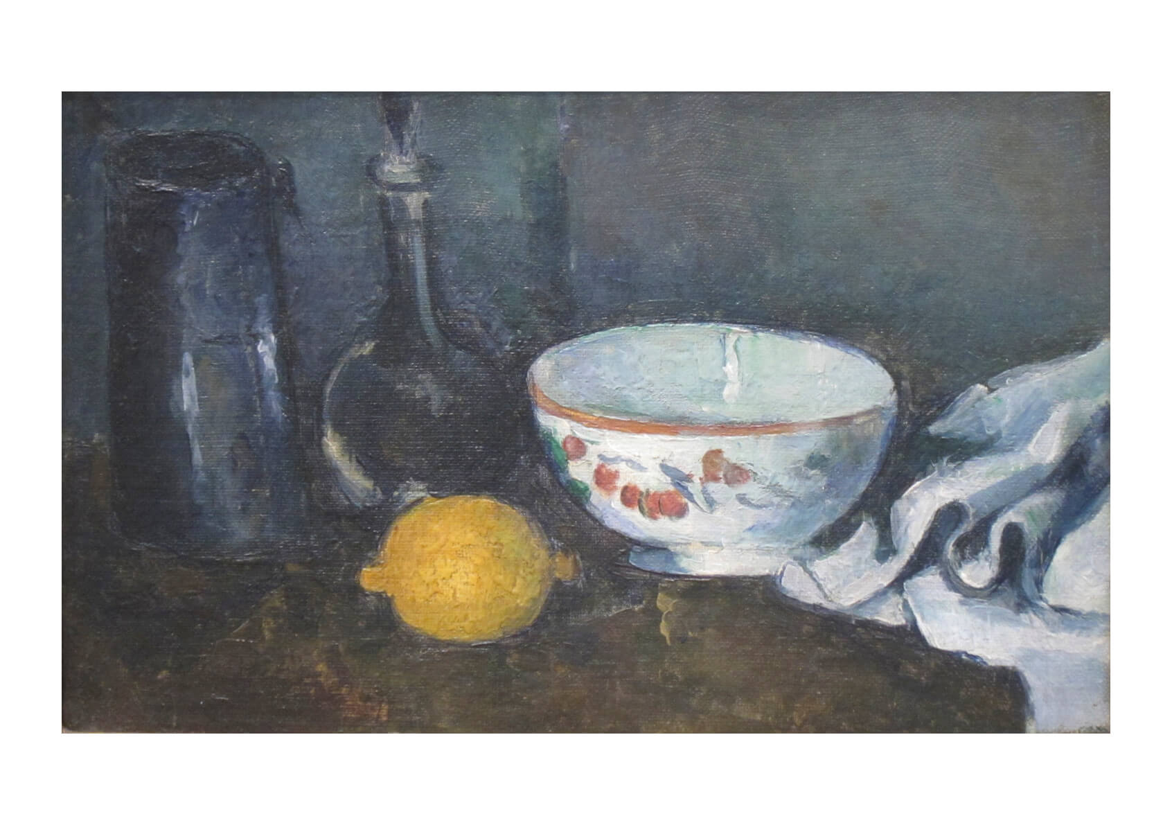 Paul Cezanne - Still-life in Blue with Lemon