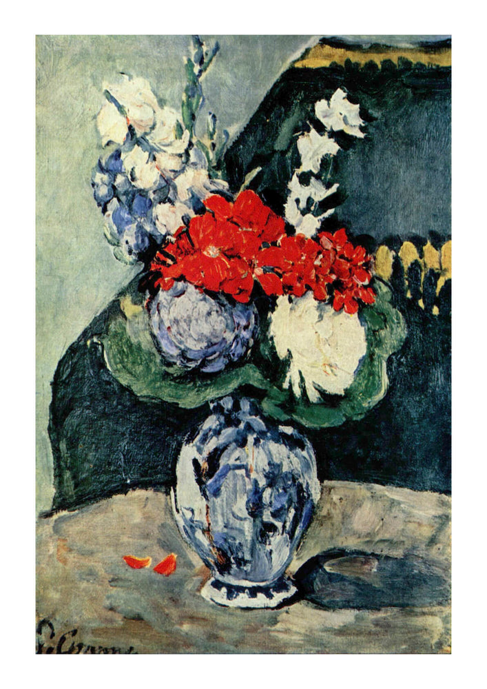 Paul Cezanne - Still Life Blue White and Red