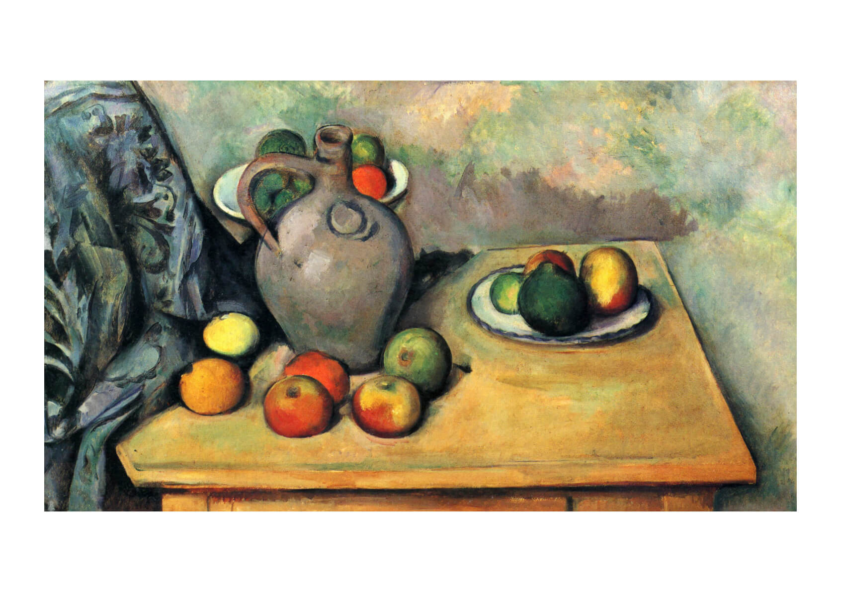Paul Cezanne - Still Life Fruit and Jug