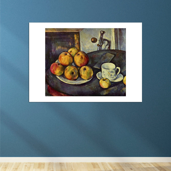 Paul Cezanne - Still Life fruit and Tea