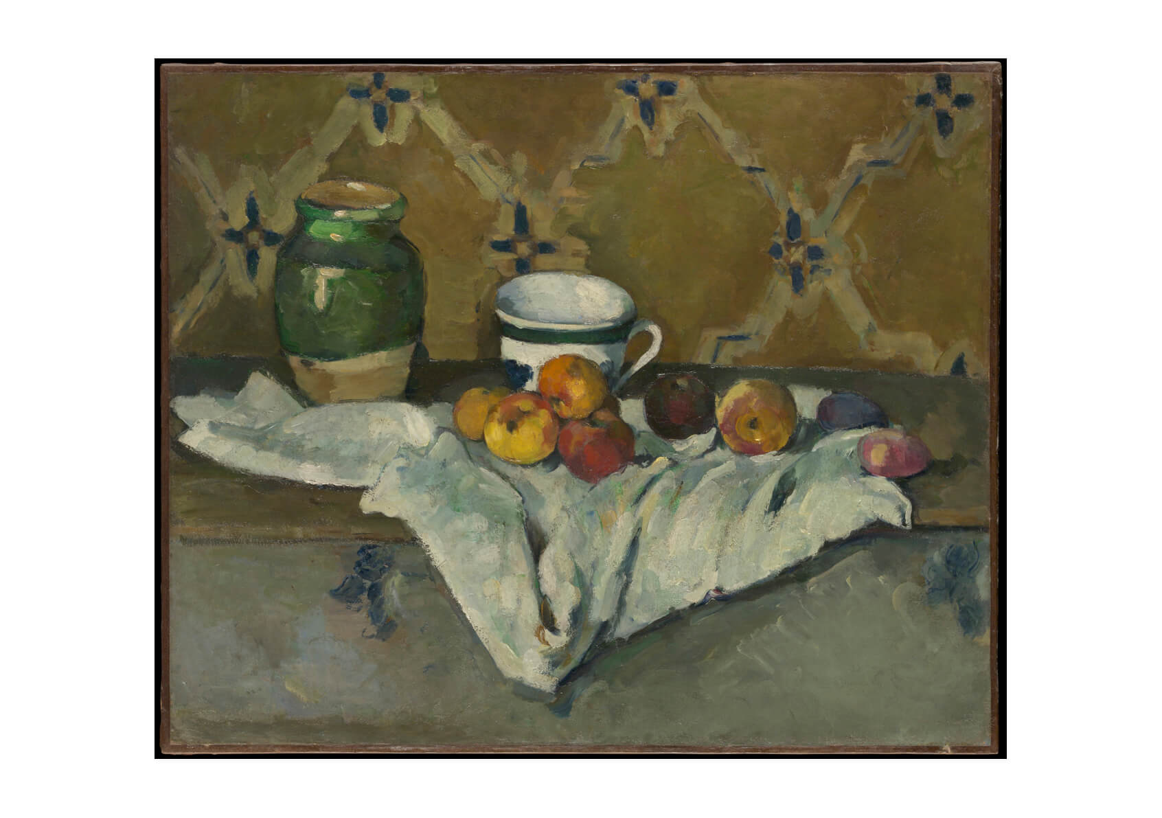 Paul Cezanne - Still Life with Jar Cup and Apples