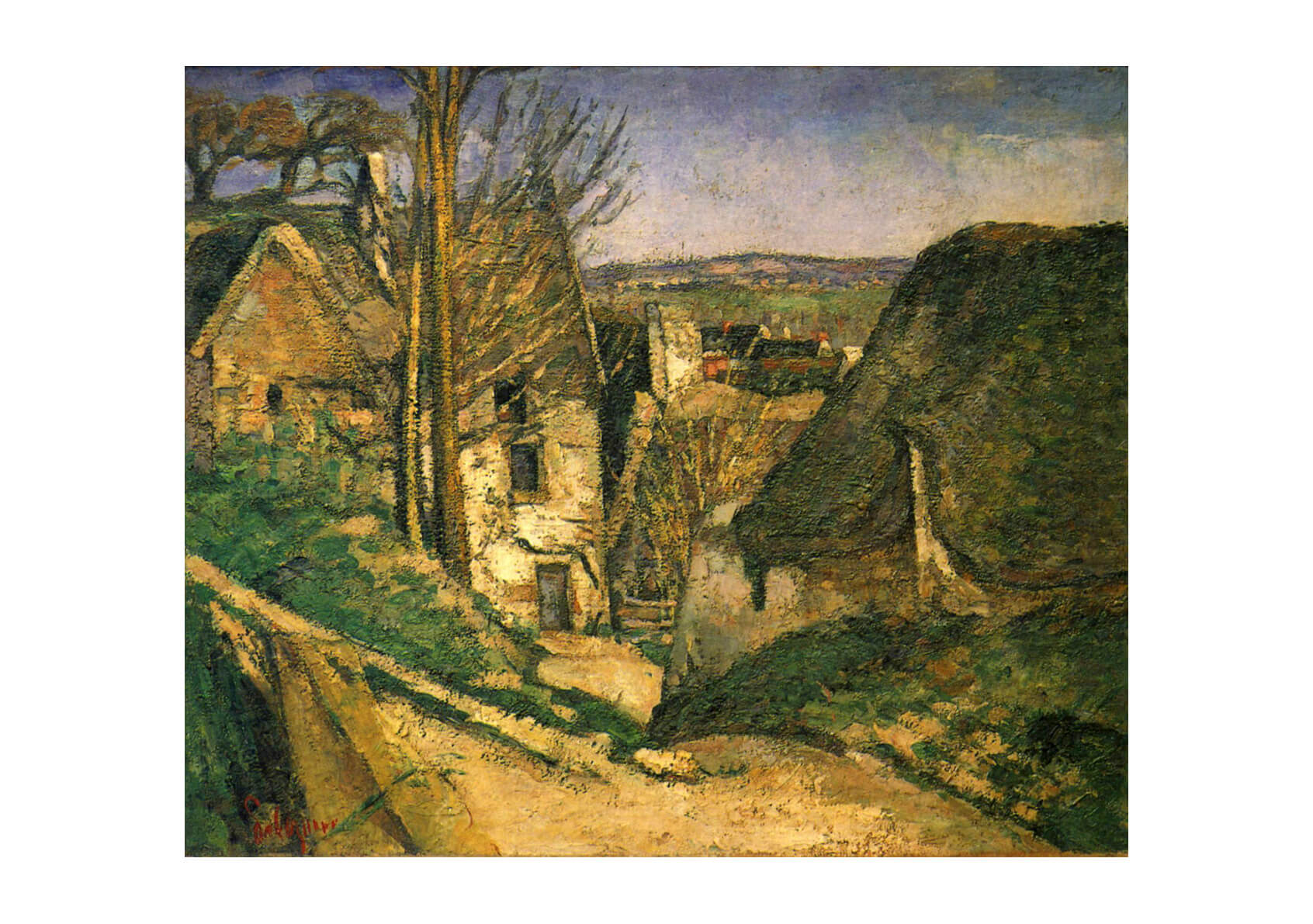Paul Cezanne - Streeth into a Town