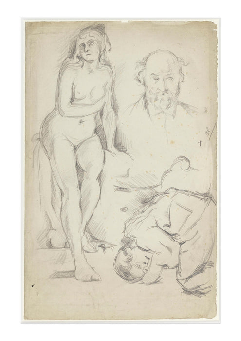 Paul Cezanne - Studies of Three Figures