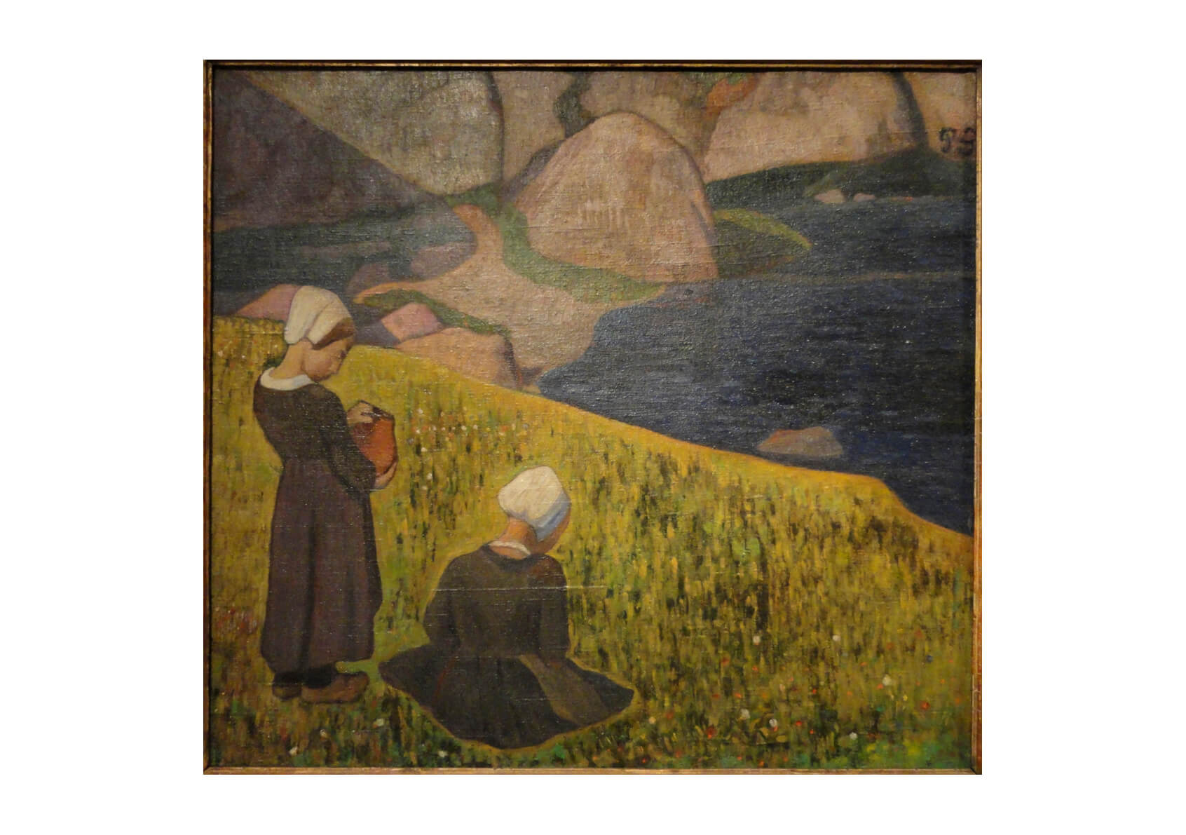 Paul Gauguin - Breton Women in a Seaside Field
