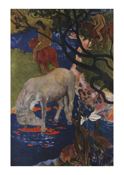 Paul Gauguin - Le cheval blanc