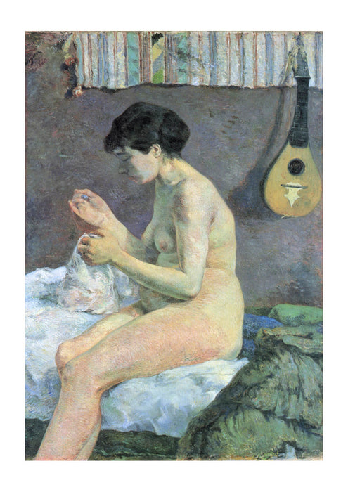 Paul Gauguin - Nude sitting on Bed