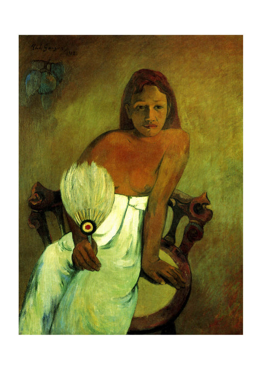 Paul Gauguin - Portrait with Feathers