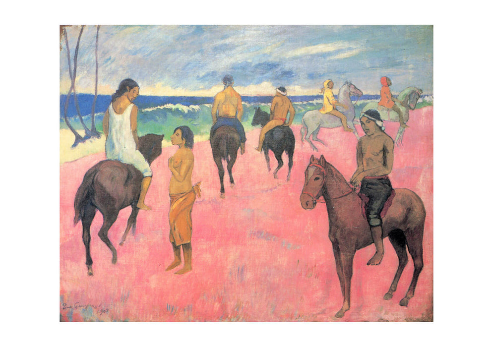 Paul Gauguin - Red Field Horses
