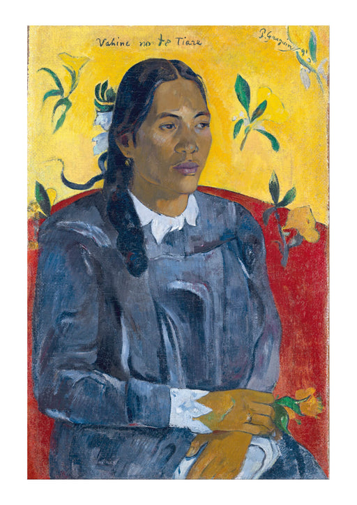 Paul Gauguin - Tahitian Woman With A Flower