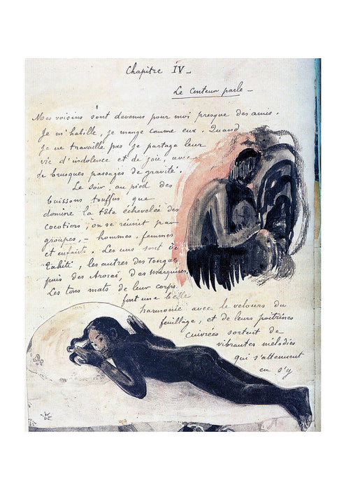 Paul Gauguin - Texte manuscrit
