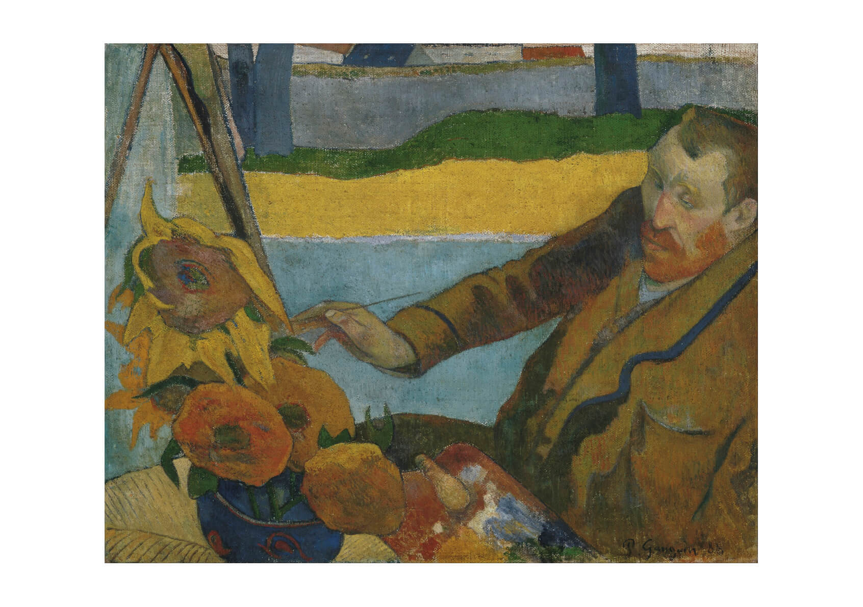 Paul Gauguin - Vincent van Gogh painting Sunflowers