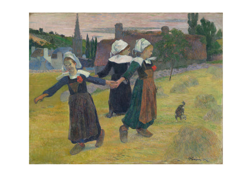 Paul Gauguin Breton Girls Dancing Pont Aven