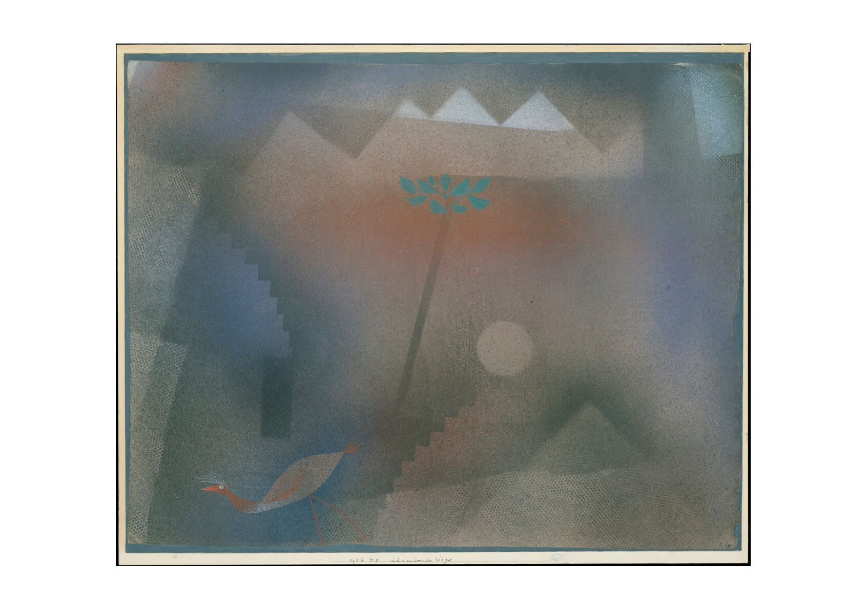 Paul Klee - Bird Wandering Off