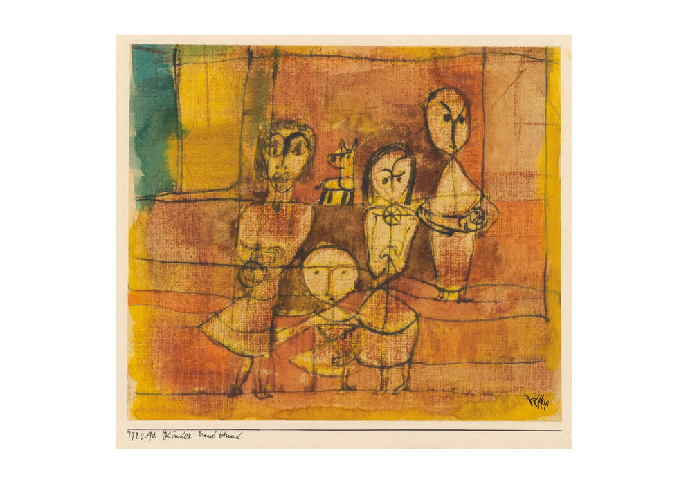 Paul Klee - Children and Dog