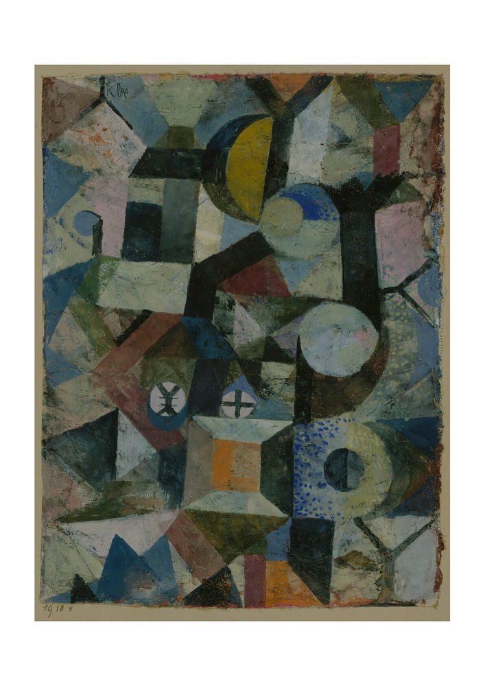 Paul Klee - Composition with the Yellow Half-Moon