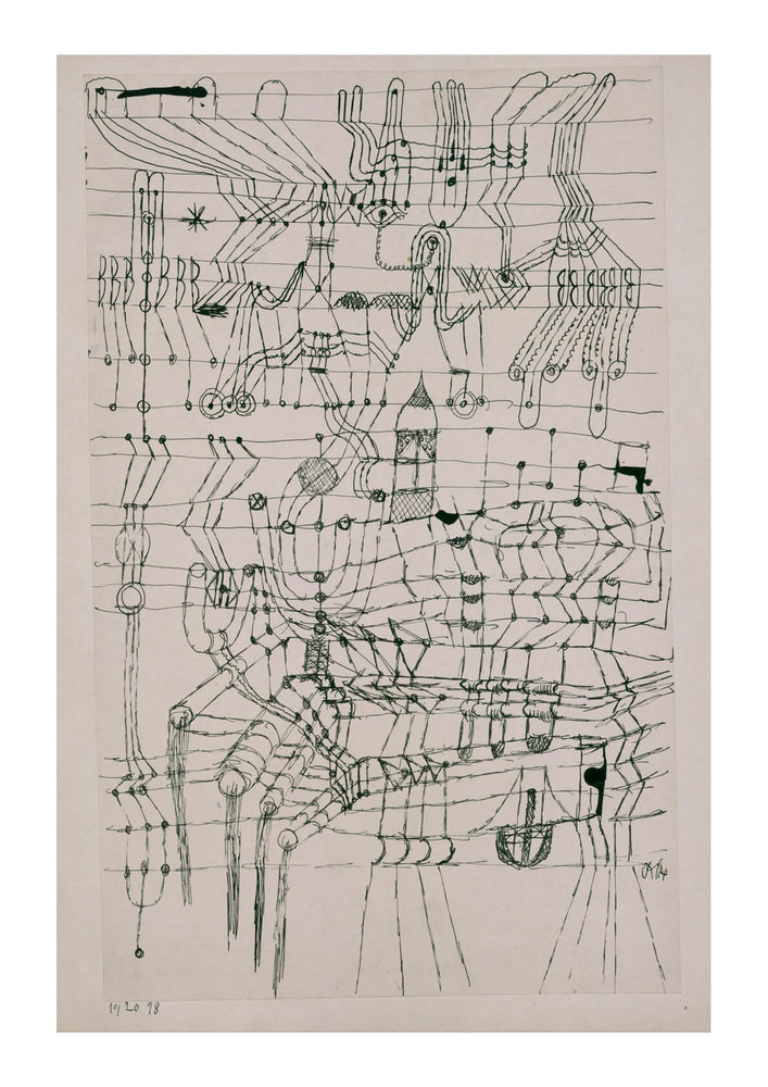 Paul Klee - Drawing Knotted in the Manner of a Net