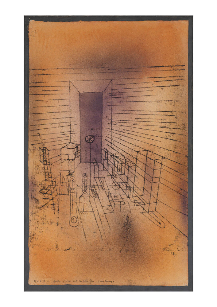 Paul Klee - Ghost Chamber with the Tall Door