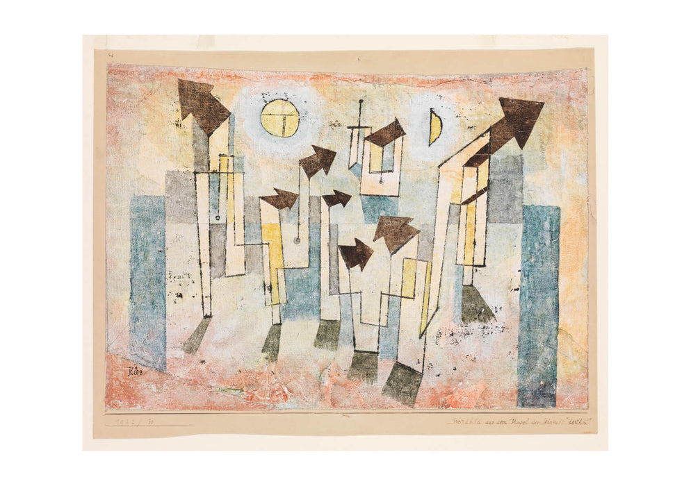 Paul Klee - Mural from the Temple of Longing