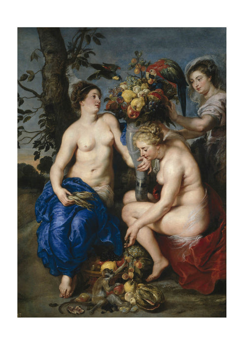 Peter Paul Rubens - Ceres and two nymphs
