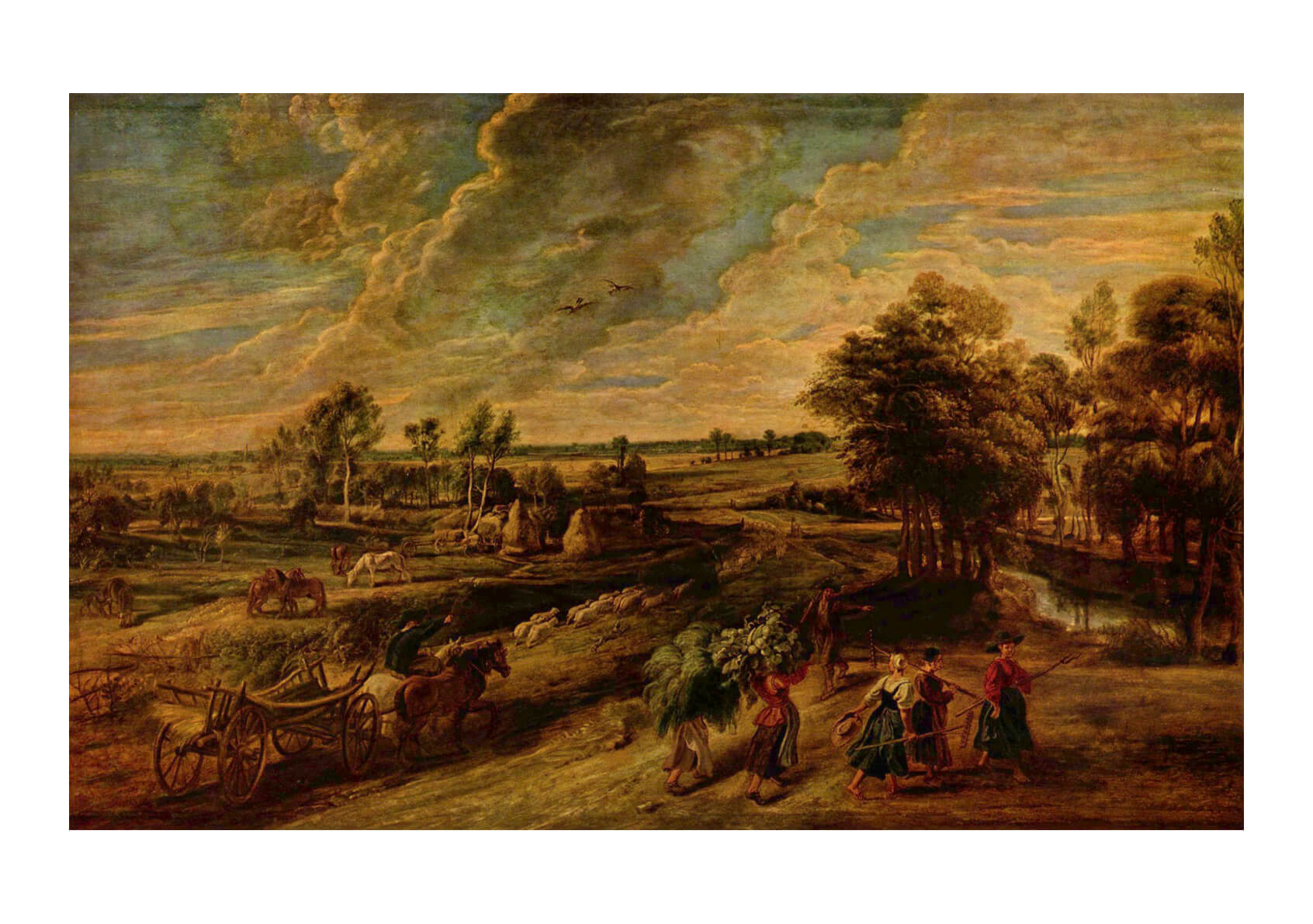 Peter Paul Rubens - Clouds over the Fields