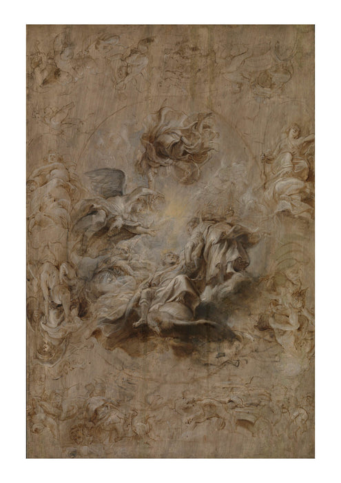 Peter Paul Rubens - Sketch for the Banqueting House Ceiling