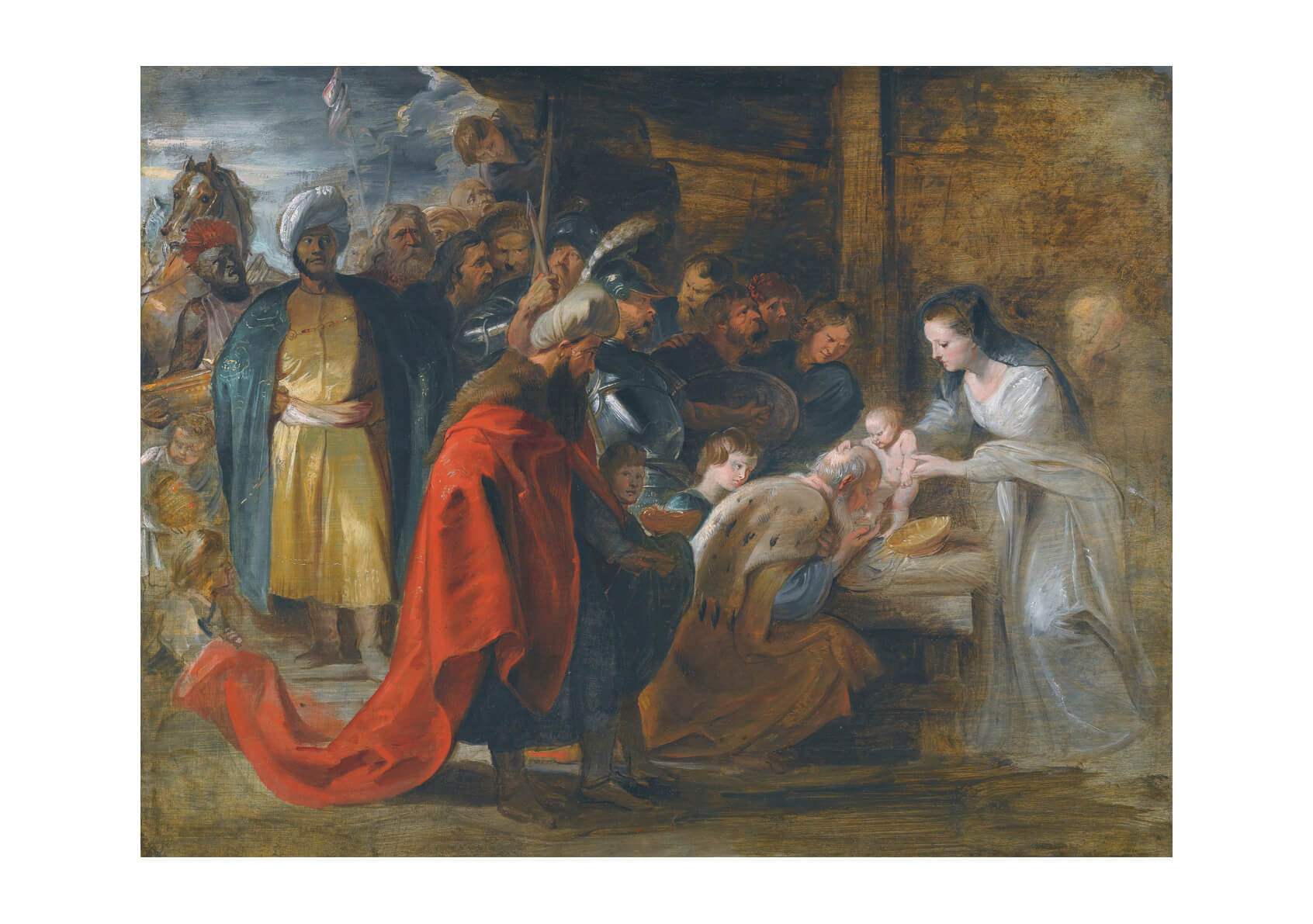 Peter Paul Rubens - Study for the Adoration of the Magi
