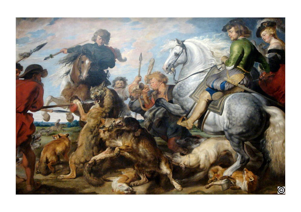Peter Paul Rubens - Wolf and Fox Hunt