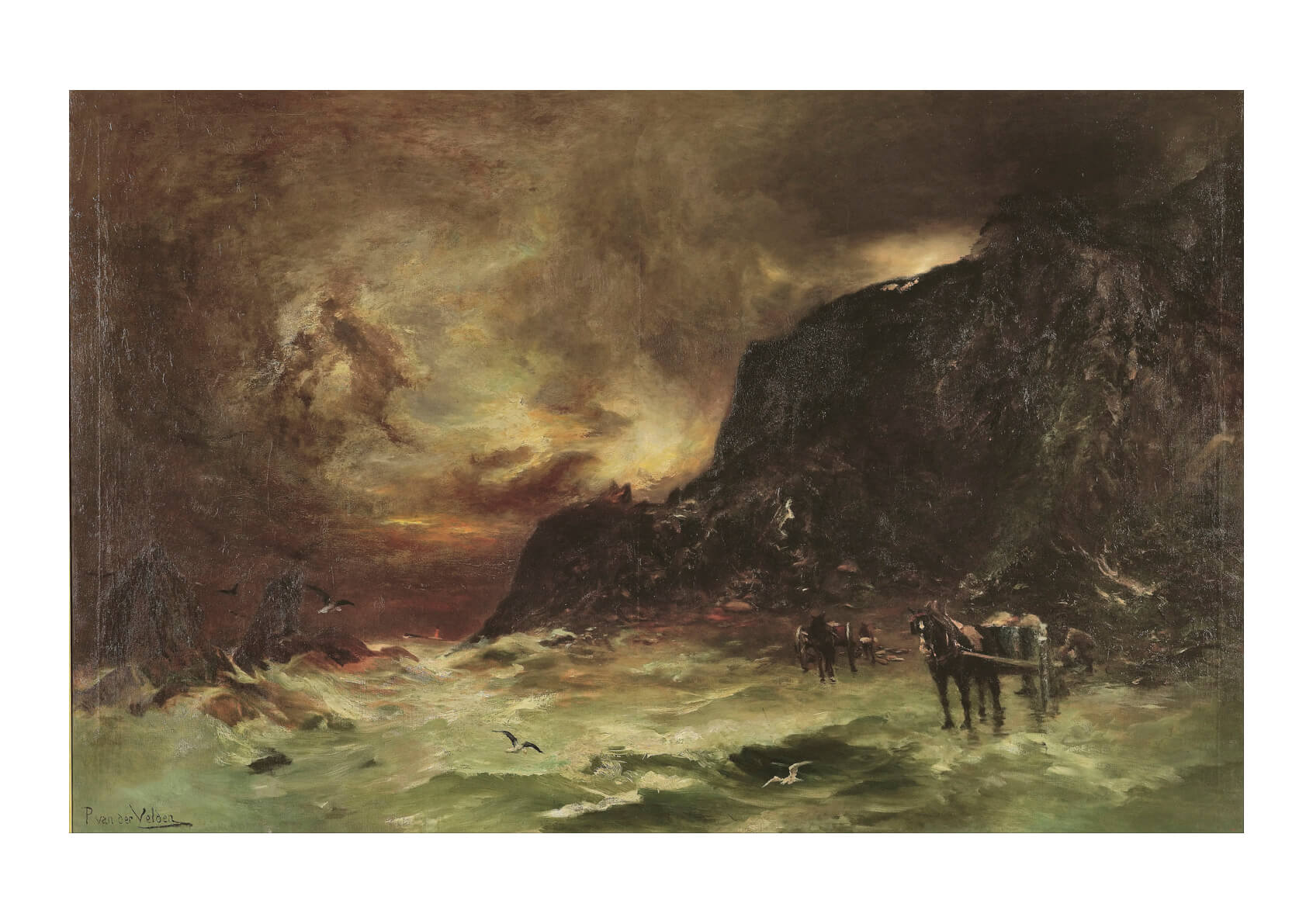 Petrus van der Velden Storm at Wellington Heads