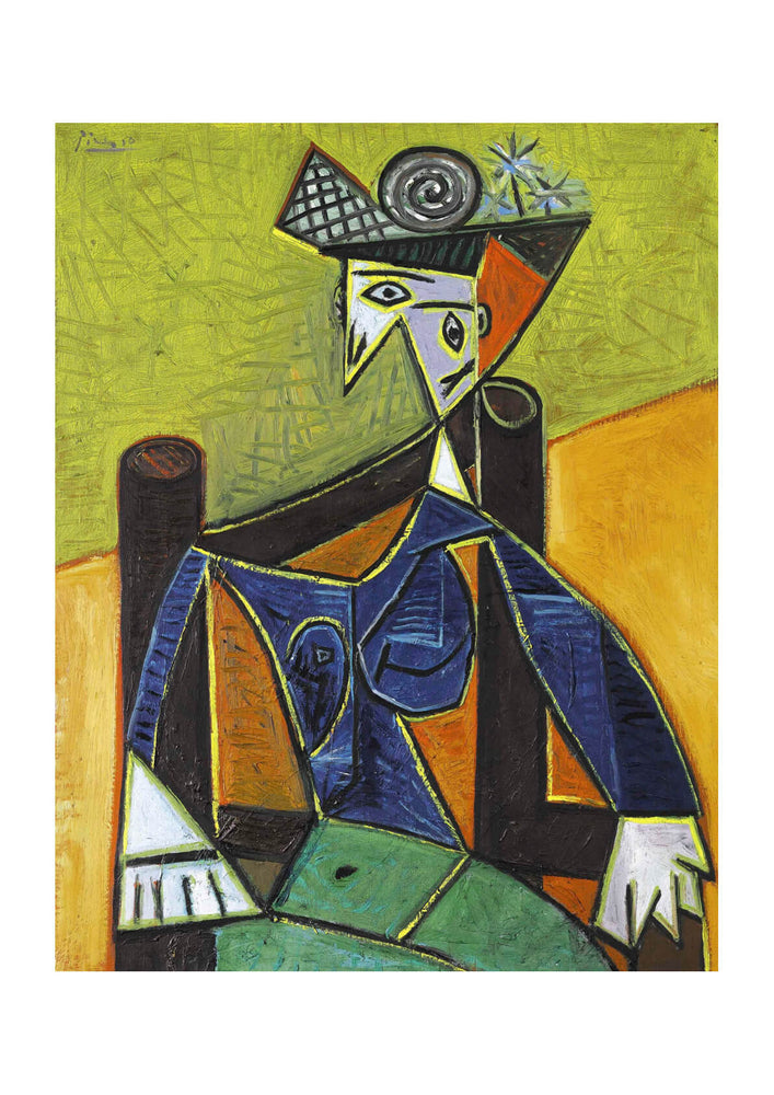 Picasso - Seated Woman in Green