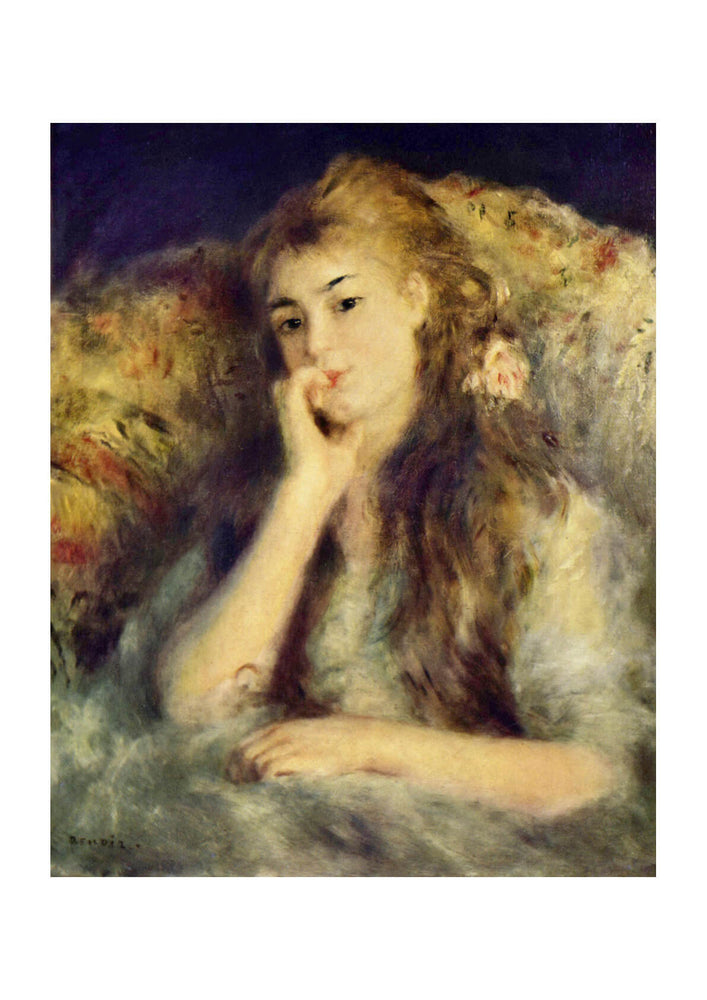 Pierre Auguste Renoir - Portrait of Blond Girl