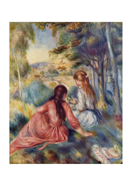 Pierre Auguste Renoir - Two Girls Talking