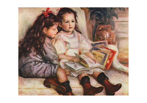 Pierre Auguste Renoir - Two Girls with a Book