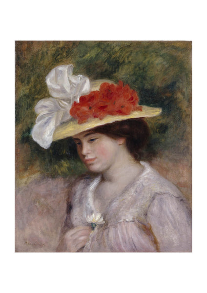 Pierre Auguste Renoir - Woman in a Flowered Hat
