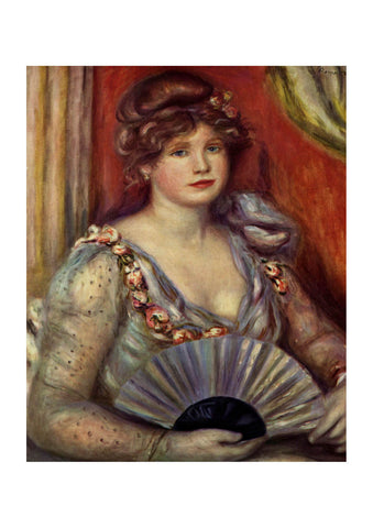 Pierre Auguste Renoir - Woman with a Fan